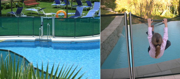 Vallas de seguridad de malla desmontables la web de la for Vallas para piscinas