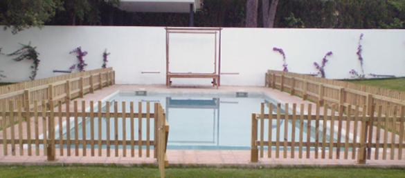 vallas de madera para piscinas fitor forestal la web de
