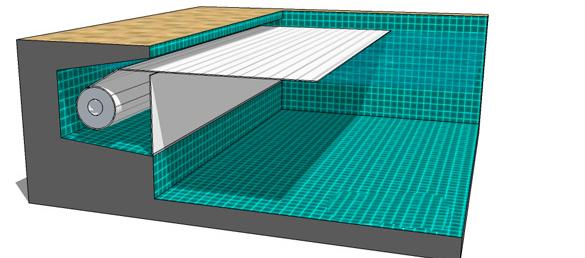 Cubierta de persiana con enrollador sumergido Venecia