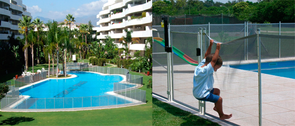 Vallas desmontables para piscinas babysecur la web de la for Vallas seguridad piscinas