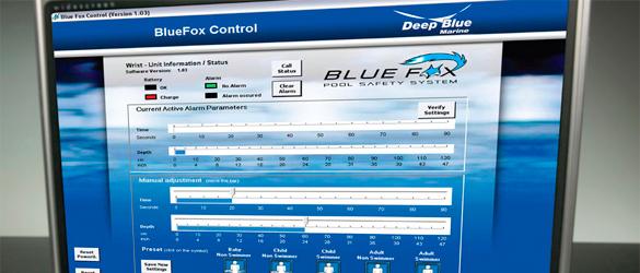 Panel de control para programación de los parámetros de Blue Fox ST1